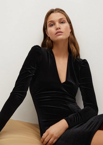 robe-courte-velours-noir-noel
