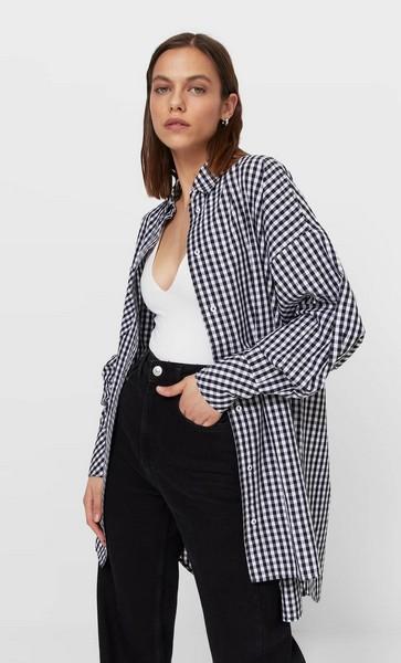 chemise-longue-carreaux